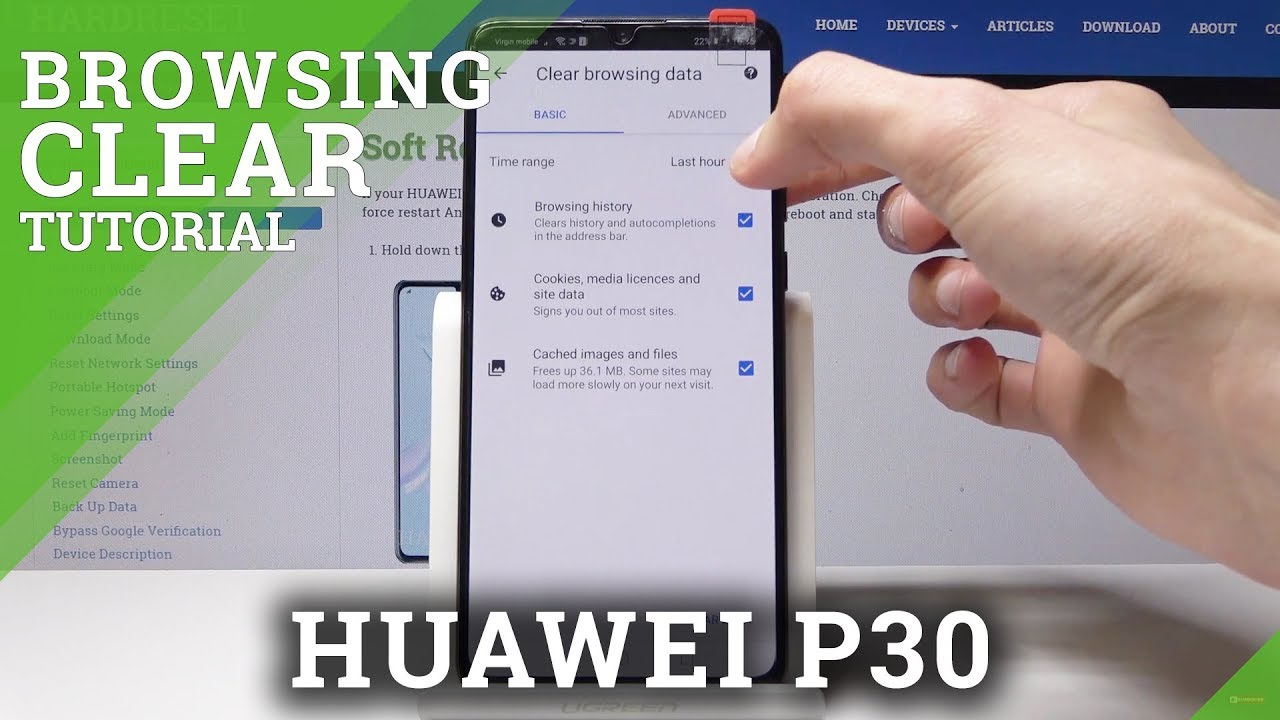 How to Delete Browser Data in HUAWEI P30 - Clear Browser Data