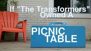 "If ""the Transformers"" Owned A Picnic Table.... (suitcase Table And Bench)"