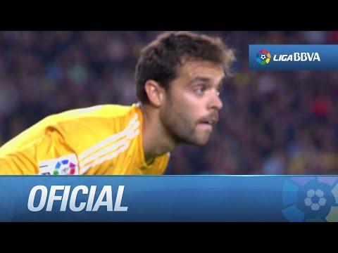 Paradones de Sergio Álvarez en FC Barcelona - Celta de Vigo