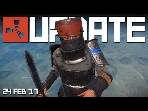 HEAVY ARMOUR! WEAPON SASH! FURNITURE!   RUST update news 24th FEB '17