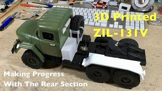 3D Printed ZIL-131V V8 6x6 Military Truck: Making Progress With The Rear End