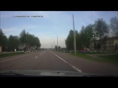 "Беларусь. Трасса Р-21 ""Витебск-граница России"". Road Belarus, R-21 ""Vitebsk - Russian border""."