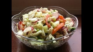 Весенний витаминный салат...без майонеза.