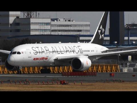☆Star Alliance Livery☆エア・インディア Boeing 787-8 Dreamliner☆Take off Narita RWY16R成田空港! さくらの山