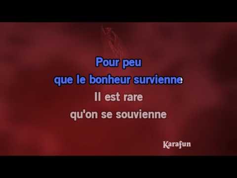 Karaoké Les passantes - Georges Brassens *