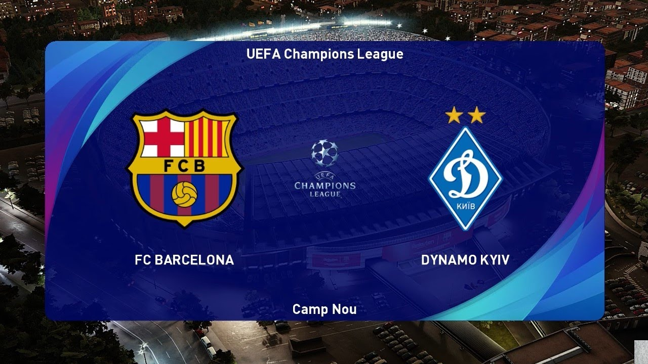 Pes 2021 Barcelona Vs Dynamo Kyiv Uefa Champions League 2020 Gameplay Pc Youtube