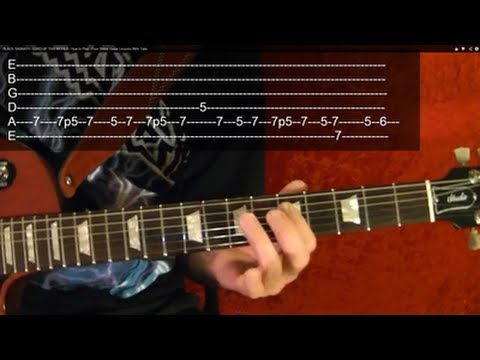 IRON MAN - Black Sabbath - Guitar Lesson