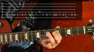 Guitar Lesson - BLACK SABBATH - Iron Man - With Printable Tabs