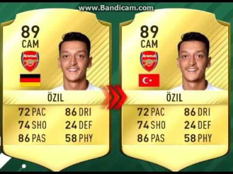 FIFA 17 Nation Changes