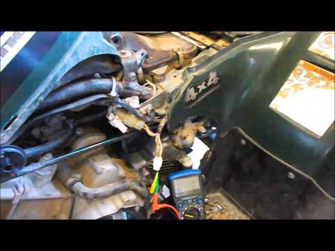 Yamaha kodiak 400 trigger pickup coil test ohms  peak
