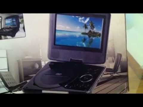 Unboxing The 7inch Screen Sylvania Swivel DVD Player