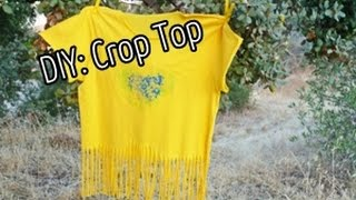 DIY Crop Top /Cum sa-ti modifici hainele