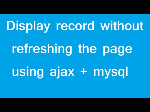 ajax load content without refresh the whole page - YouTube