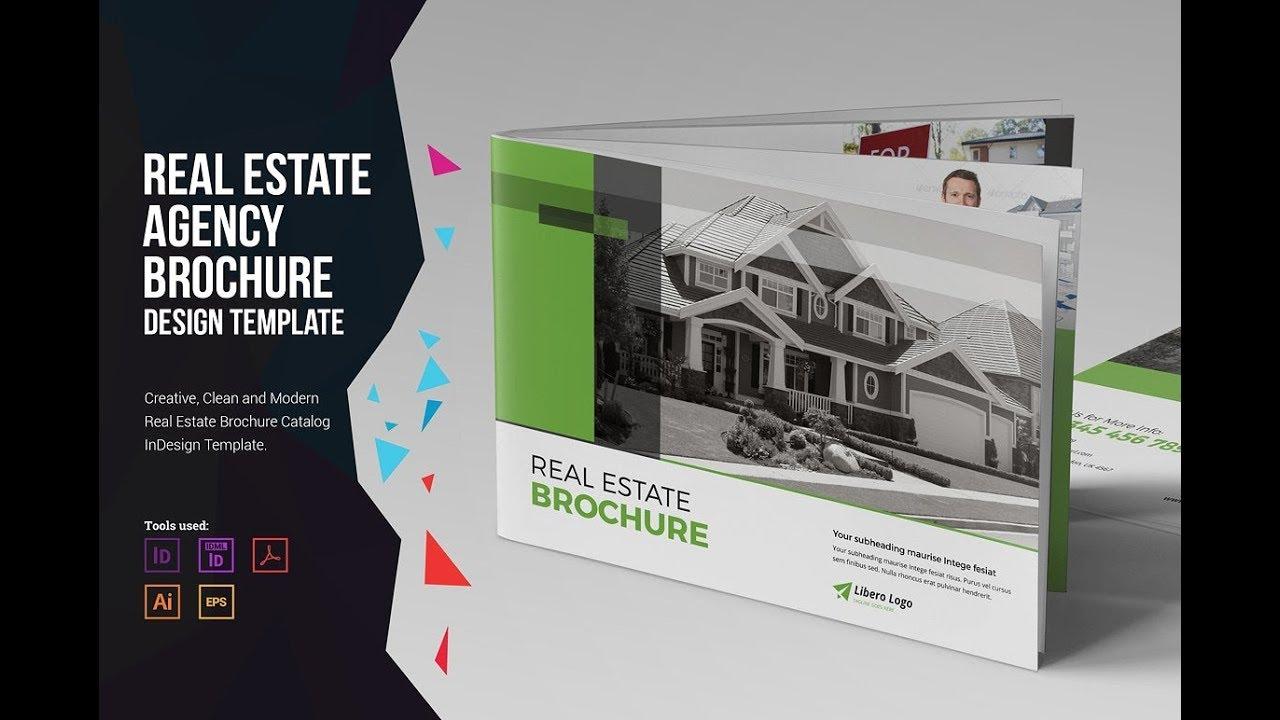 Real Estate Brochure V3 Brochure Template Creative Market Youtube