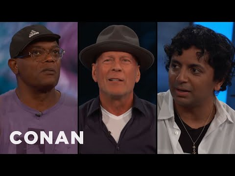 Samuel L. Jackson, Bruce Willis, & M. Night Shyamalan's Origin Story  - CONAN on TBS