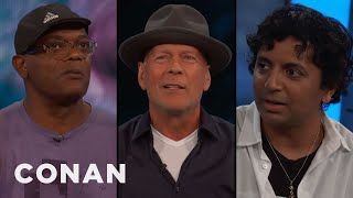 Samuel L. Jackson, Bruce Willis, & M. Night Shyamalan