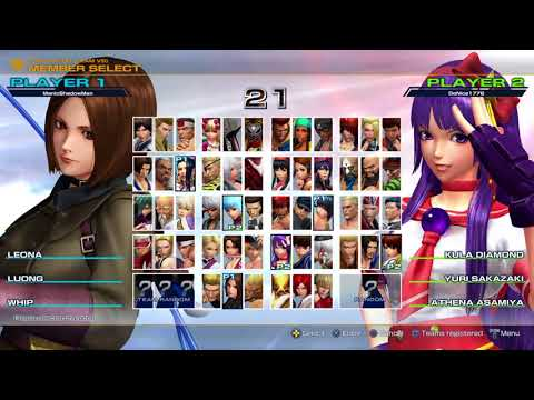 The King of Fighters XIV [PS4]: Online Battles in a friend's lobby (3/25/18)