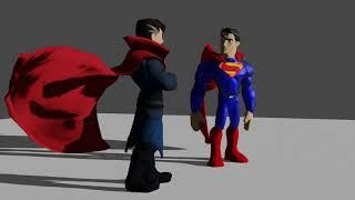 Superman talks with Dr Strange - Disney Infinity Animation