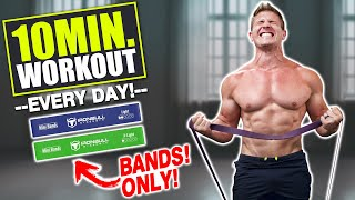 """INTENSE 10 MIN AT HOME """"FULL BODY"""" WORKOUT! (RESISTANCE BANDS ARE AWESOME!)"""