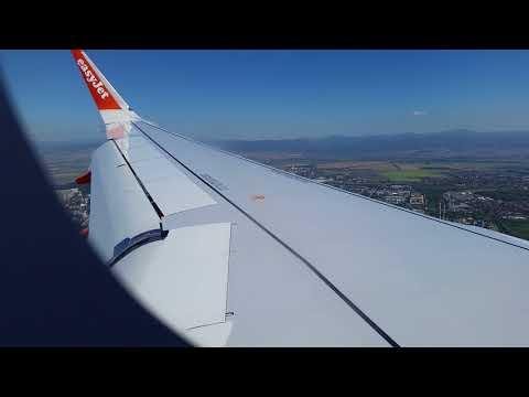 Easyjet landing in sofia bulgaria!