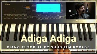 Adiga Adiga - Ninnu Kori | Piano Cover | Shubham Korade