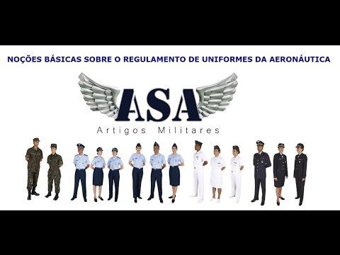 Noções Básicas sobre o Regulamento de Uniformes da Aeronáutica - YouTube f579fe15544cc