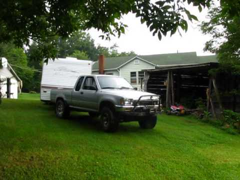 Toyota Tacoma Towing Travel Trailer >> toyota truck pulling 30 foot camper - YouTube