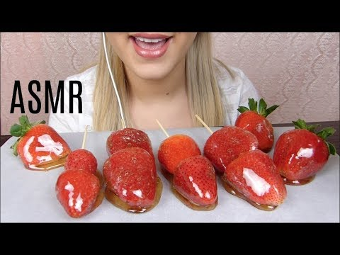 ASMR Candied Strawberries *EXTREME CRUNCH (Whispering) | EatWithJas91