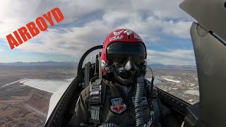 "Thunderbirds Training Flight • Capt. Michelle Curran  ""Opposing Solo"""