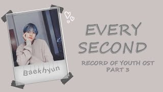 Download lagu BAEKHYUN(백현) - EVERY SECOND(나의 시간은) [HAN/ROM/ENG COLOR CODED LYRICS] RECORD OF YOUTH OST PART 3