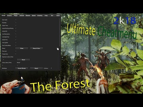 ULTIMATE CHEATMENU! HOW TO INSTALL A MOD MENU THE FOREST MOD 2018