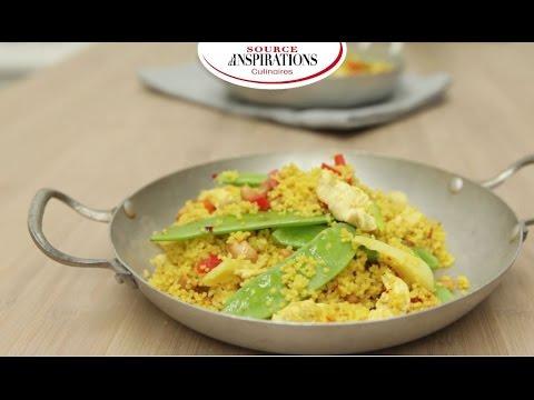 recette-wok-de-poulet-aux-noix-de-cajou,-couscous-parfumé-aux-epices-du-monde---tipiak