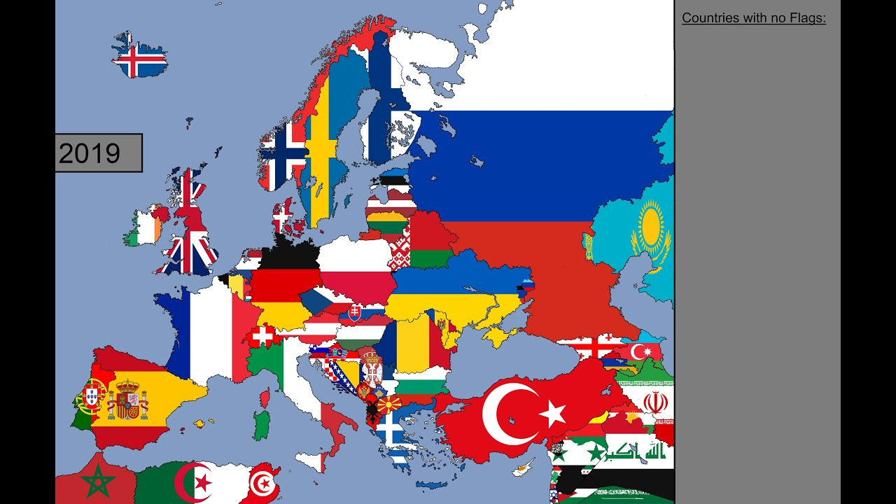 Download Europe: Timeline of National Flags: 1000 - 2019