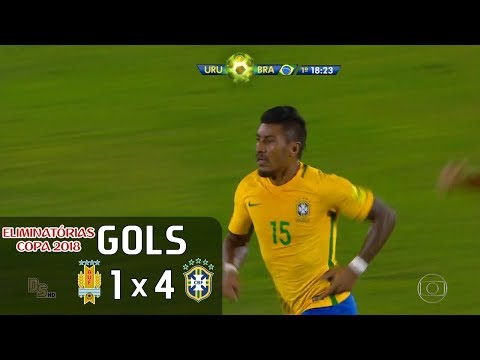 Gols - Uruguai 1 x 4 Brasil - Eliminatórias Copa 2018 - Globo HD