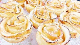 Apfel Rosen Cupcakes / Apple Rose Apfelrosen