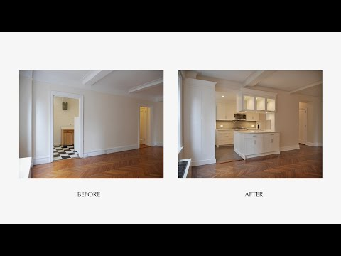 Amazing Prewar Home Renewal Before & After - W 94th St. NYC