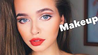 Как УВЕЛИЧИТЬ ГЛАЗА?! Осенний макияж! | Яна Русая