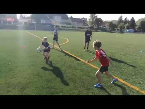 TOUCH RUGBY DRILLS: Passing Waves With Progress To Drop Off, Roll Ball And Dummy Half Pass