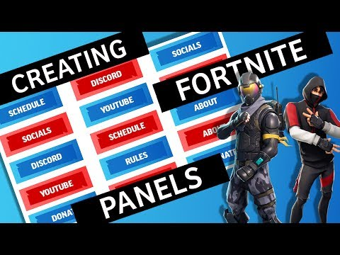 Creating Fortnite Twitch Panels
