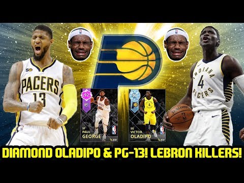 DIAMOND VICTOR OLADIPO AND PAUL GEORGE! PACERS LEBRON KILLERS SQUAD! NBA 2K18 MYTEAM GAMEPLAY