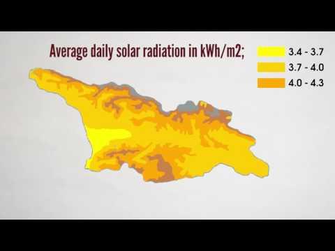 Solar radiation map of Georgia
