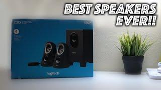 LOGITECH Z313 Speaker System Unboxing and Setup!!