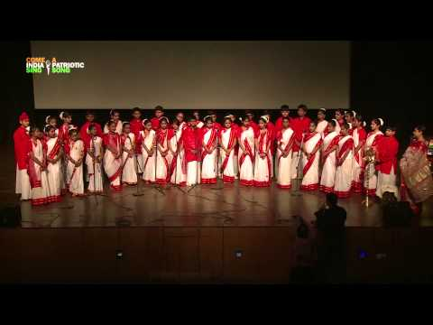"""Choir Performance / Group Singing: """"Ekla Chalo Re"""" by students of Lotus Valley International School"""