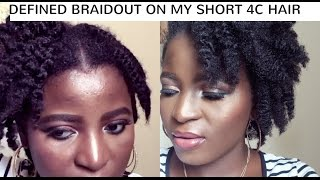 defined braid out on short 4c natural hair   kenny olapade