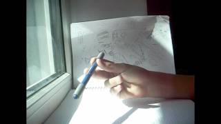 Pen spinning. Видео обучение трюку thumb around