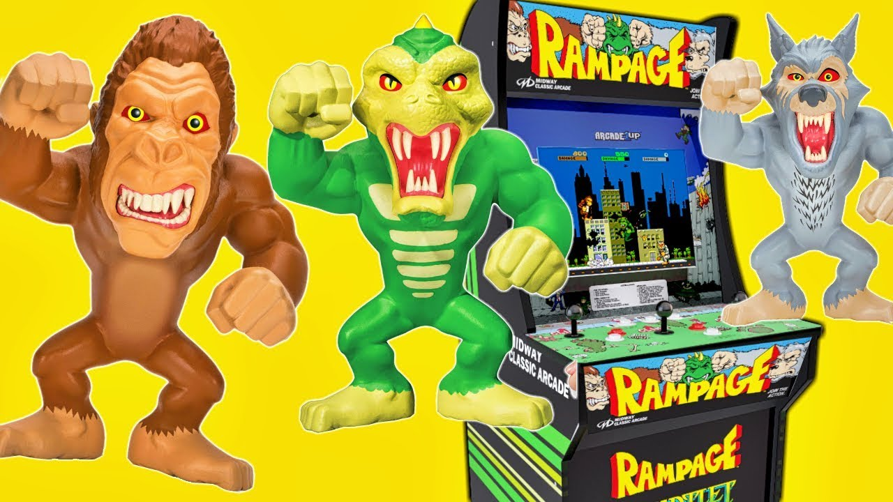 Rampage Video Game Toys With Arcade1up Console Super Stretch