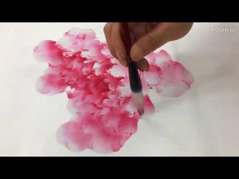 A Peony litchi painting demonstration by Li Xiujian teacher