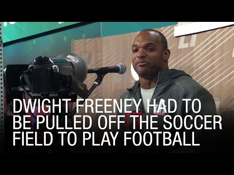 Dwight Freeney Had To Be Pulled Off The Soccer Field To Play Football
