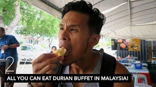 ALL YOU CAN EAT DURIAN BUFFET IN MALAYSIA! // KUALA LUMPUR DAY 3 | VLOG 27