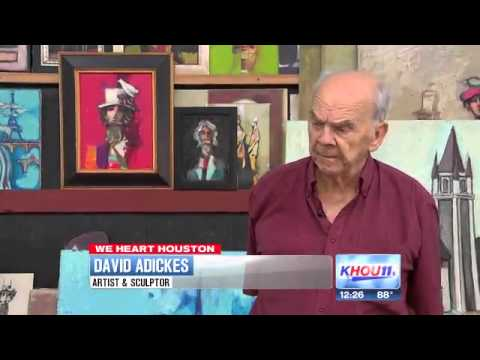 David Adickes | Sculptor Shows Some Colorful Love For Houston (2013)